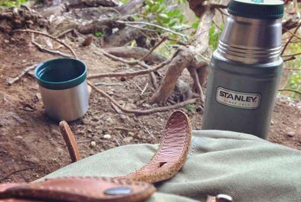 Travel with Essentials, Stanley Flask, backpack, outdoor adventures.