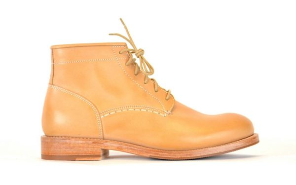 Natural Vegetable Tanned Leather Boots by Butts and Shoulders