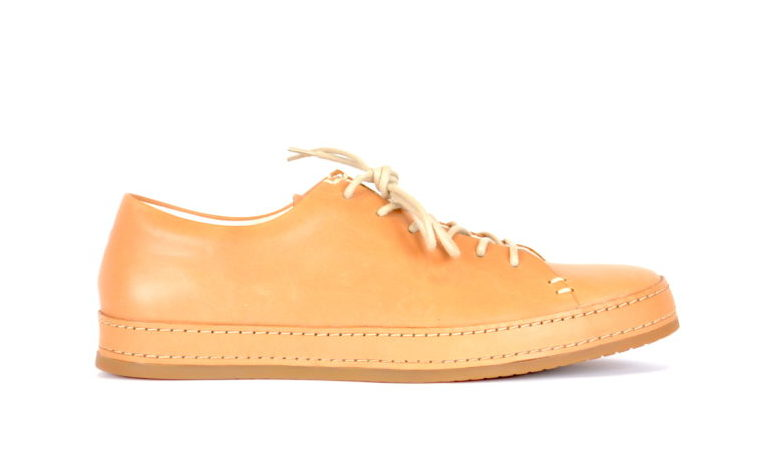 dd6548eb4b4825 Vegetable Tanned Natural Leather Sneakers by Butts and Shoulders