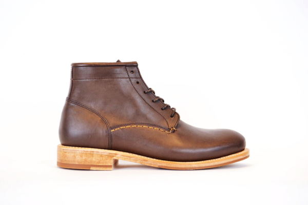 Brown Vegetable Tanned Leather Boots by Butts and Shoulders