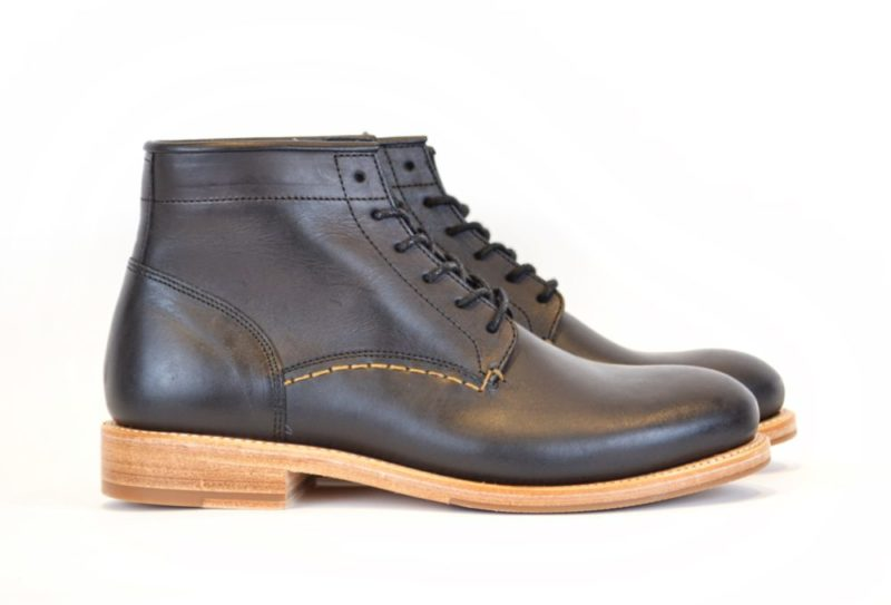 Black Vegetable Tanned Leather Boots by Butts and Shoulders